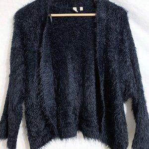 XL Black Madison Fur Cardigan